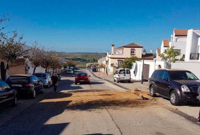 Estalla en Medina Sidonia una tubería de gas
