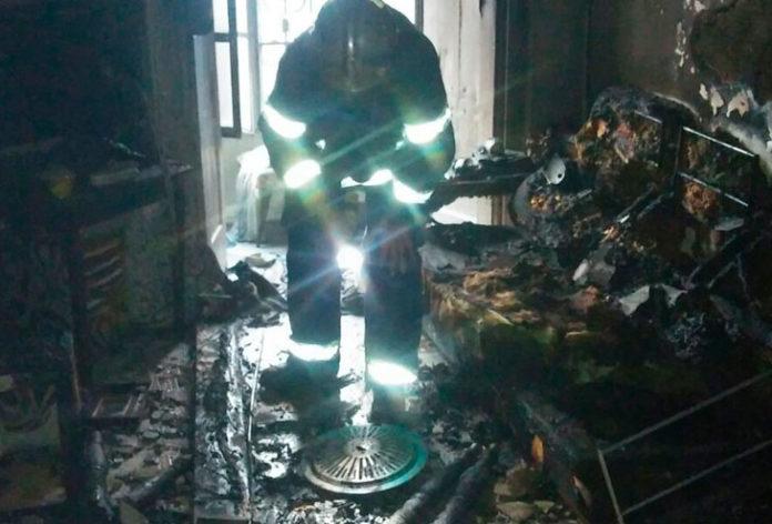 Incendio de vivienda originado por brasero